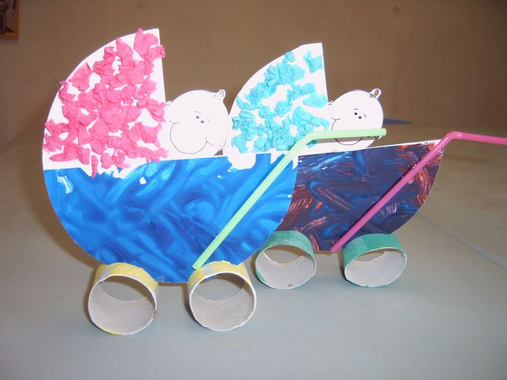DIY a Baby in a Stroller....from Toilet Paper Rolls, Cardstock and Drinking Straws! •|• DIY Knutsel een Baby in een Kinderwagen met WC rolletjes, Wit Karton en Drinkrietjes! Wheeeee
