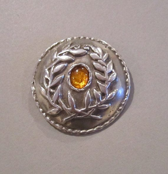 SCA Laurel Medallion in Sterling Silver with Amber by MasterArks, $145.00