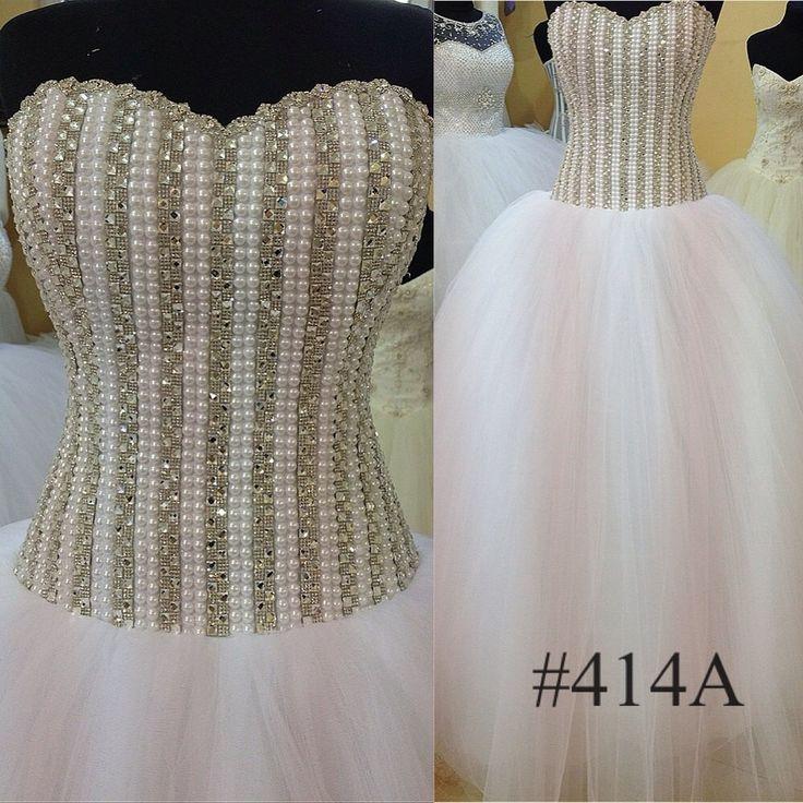 21 best Beaded Bodice Ball Gown Wedding Dress images on Pinterest ...