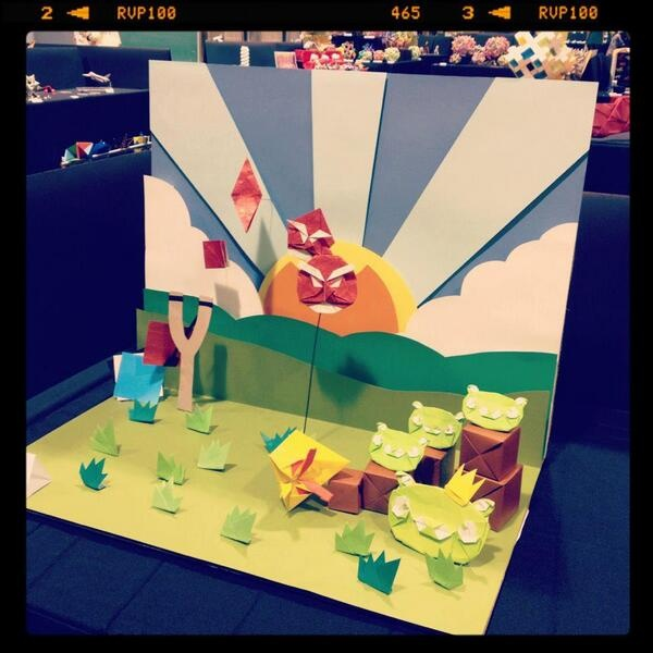 Angry Birds Origami // Click for more Angry Birds creations