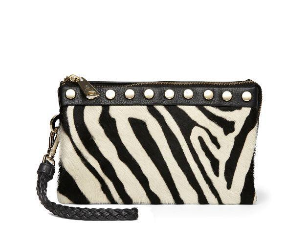 Smart lille clutch taske fra Adax i sort/hvid til 899,00