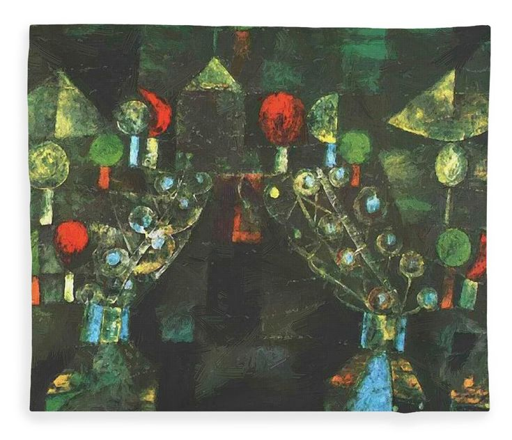 Women Fleece Blanket featuring the painting Women Pavilion 1921 by Klee Paul