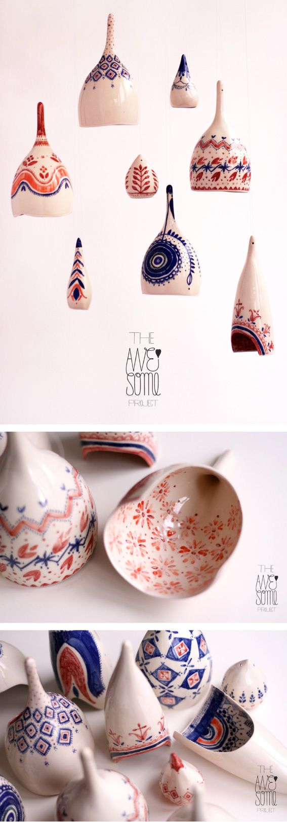 The Awesome Project - porcelain light fixtures