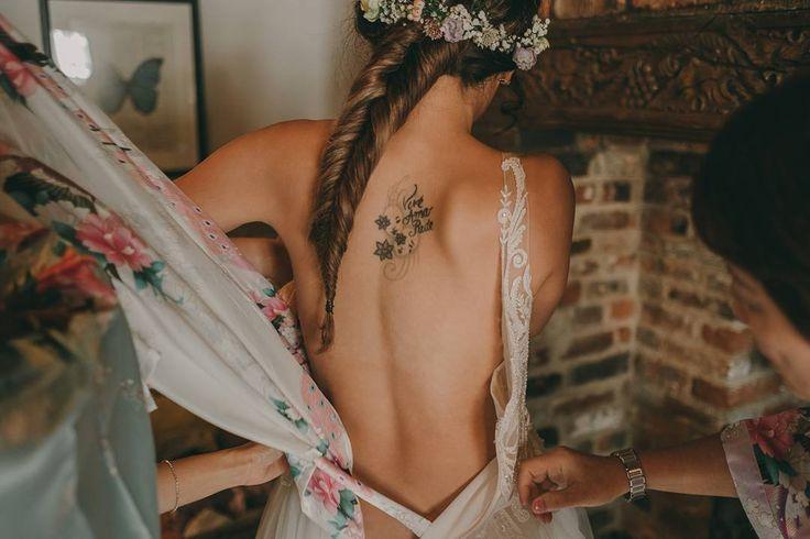 The dress  #destinationphotographer #destinationwedding #weddingdress #pinkdaisyweddings