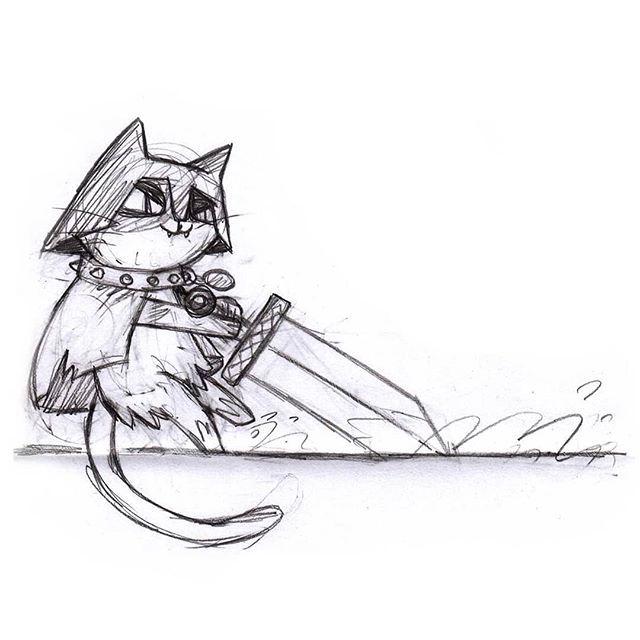 Sketchbook Warrior Cat Illustration Art Cat Catart