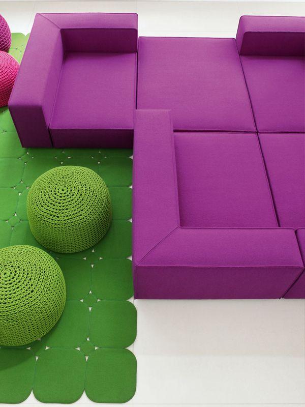 Modular Sofa With Removable Cover ATOLLO MINI   Paola Lenti
