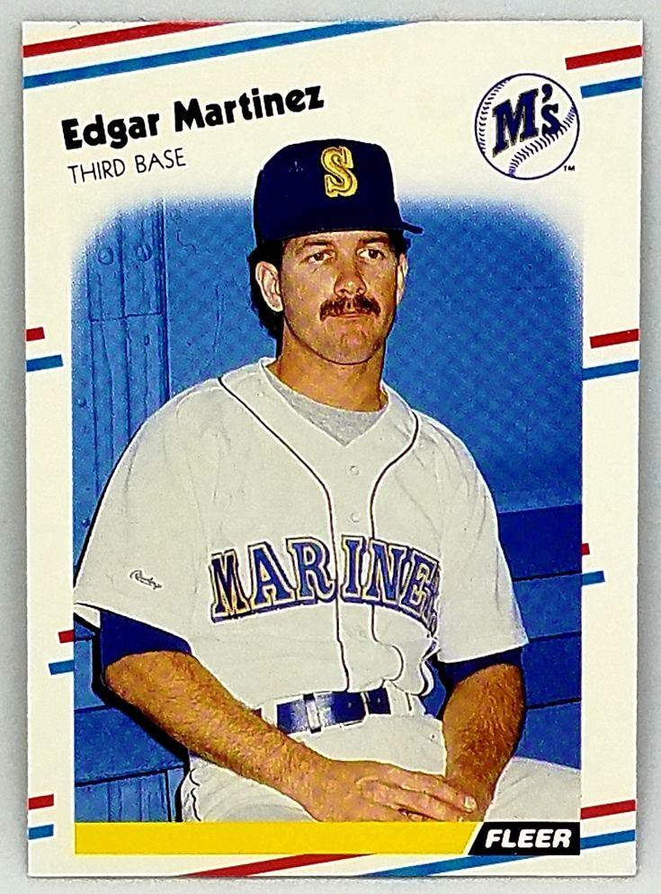 1988 fleer baseball 378 edgar martinez rookie card