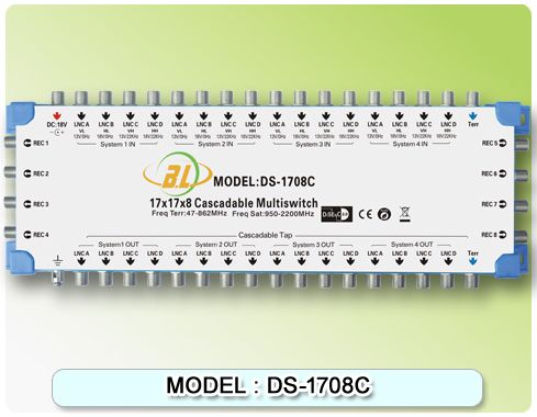 Satellite TV switch DS-1708C(cascadable) and 16 satellite signals and 1 TV signal input for 8 users to watch - http://nk-reviews.com/products/satellite-tv-switch-ds-1708ccascadable-and-16-satellite-signals-and-1-tv-signal-input-for-8-users-to-watch/