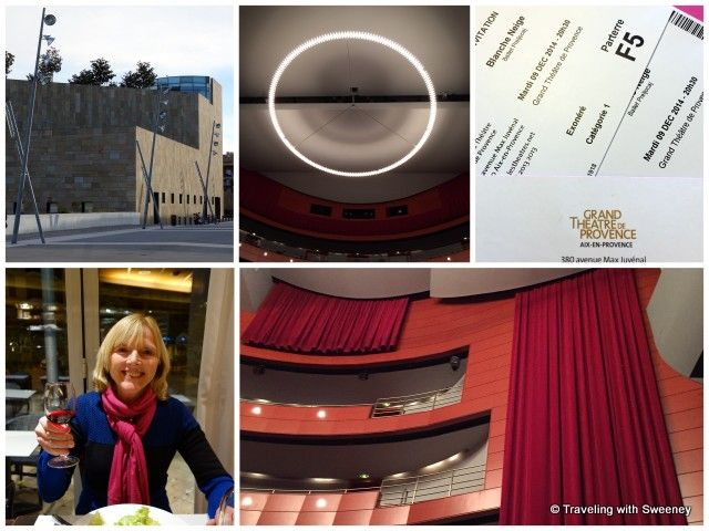 Grand Theatre de Provence and a post-performance glass of wine