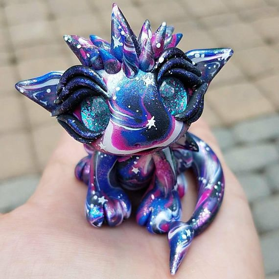 Made to order dragon galaxy dragon baby dragon starry ...