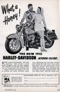 1951 Harley-Davidson Hydra-Glide advert