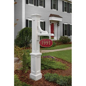 White address sign post