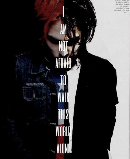 I love this, but this should be Mikey instead. The song is for him and how he pulled through after all ~ previous pinner. My Chemical Romance lyrics