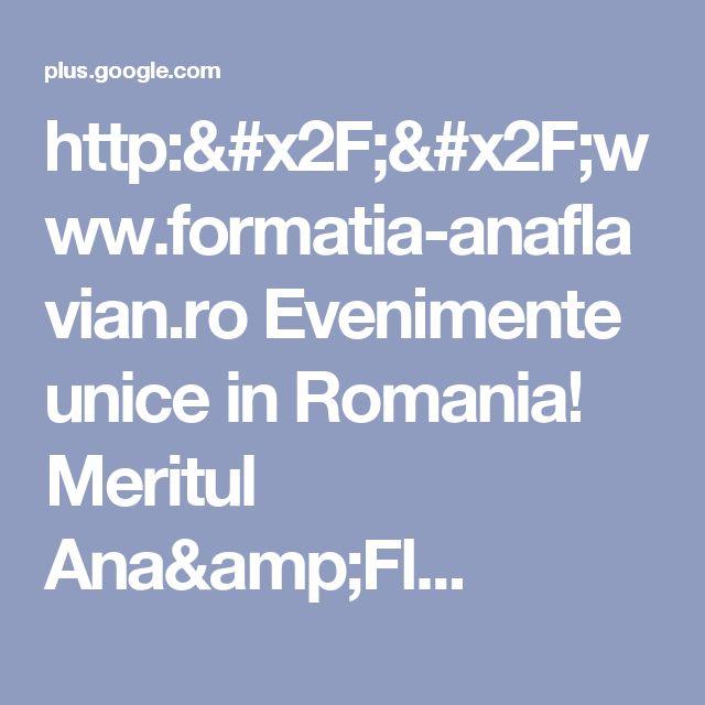 http://www.formatia-anaflavian.ro Evenimente unice in Romania! Meritul Ana&Fl...