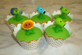 How to make Plants vs Zombies cupcakes (part 1/3) / Cupcakes de Plantas ...