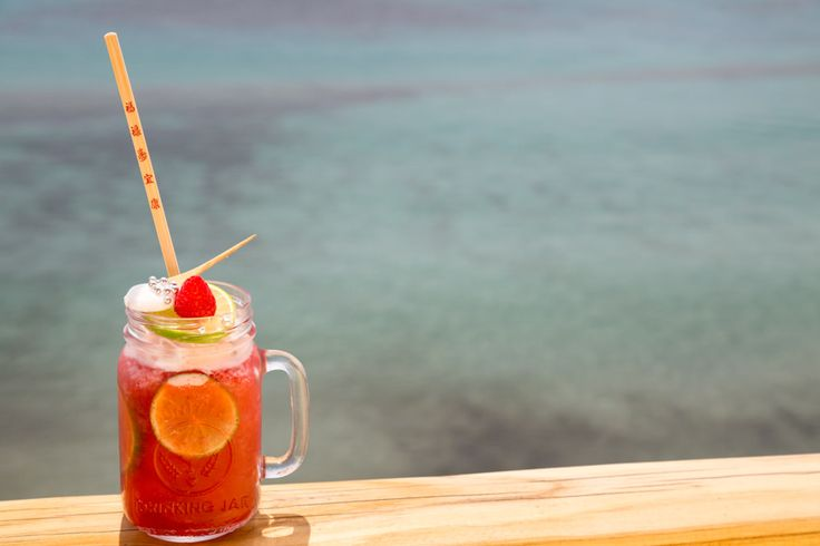 Mykonos Party Time Cocktail is a fresh mix of Raspberry Bacardi rum mix, Skinos…