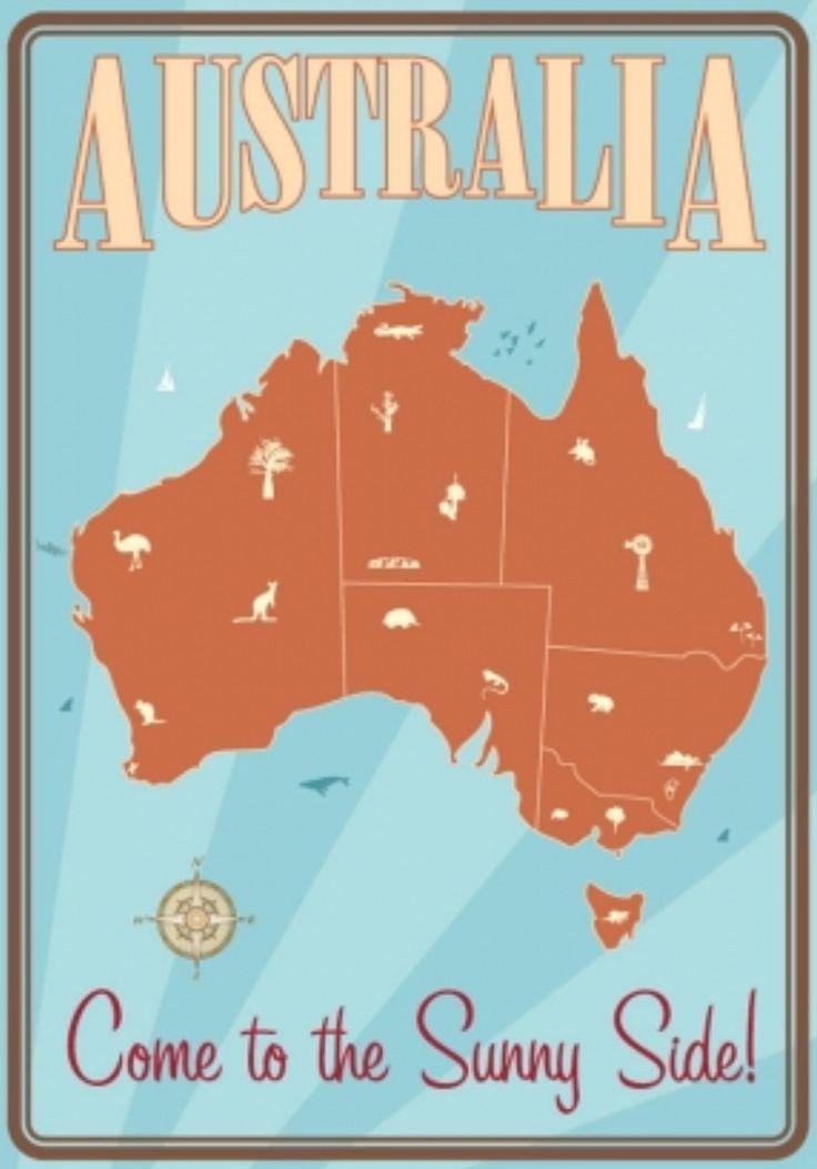 Vintage Poster - Travel Australia