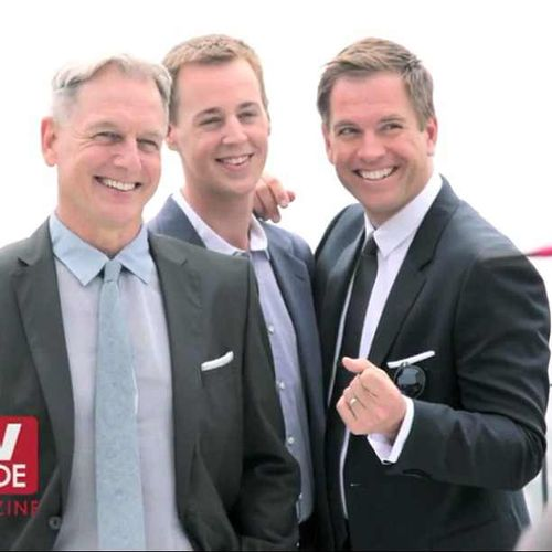 NCIS... Mark Harmon, Sean Murray & Michael Weatherly. So cute :)