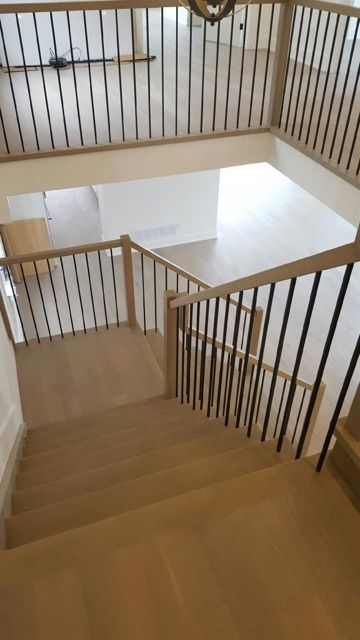 Best White Oak Stair Constructed With Closed Risers Closed 640 x 480