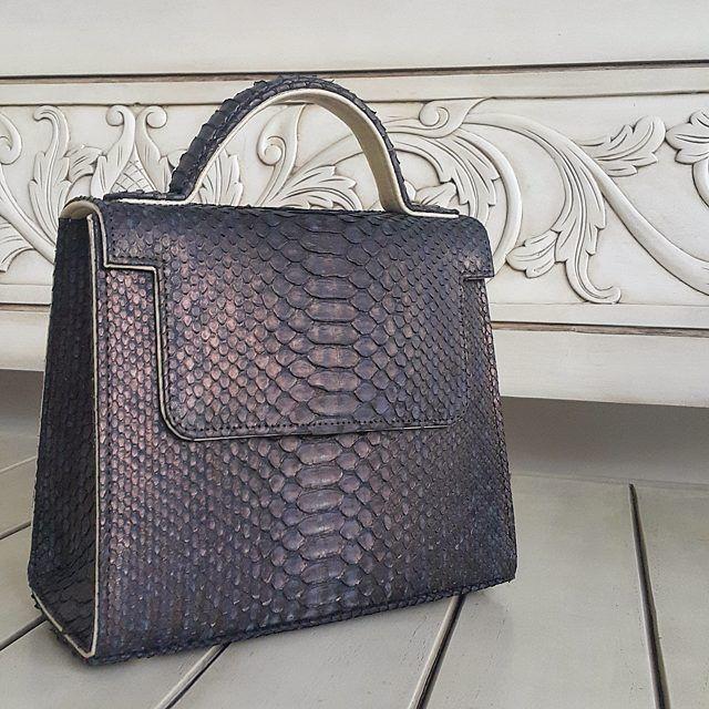 exotic leather handbag
