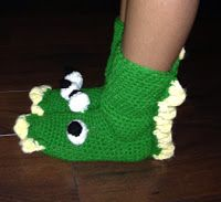 Sweet Nothings Crochet: DINOSAUR  BOOTS