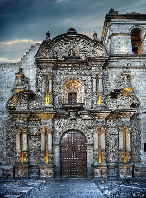 Iglesia de la Compañia (Arequipa, Peru) by dleiva, via Flickr #travel