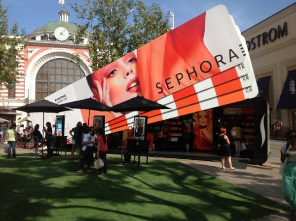 Sephora Pantone Color Pop Up Shop at The Grove! #Tangerine