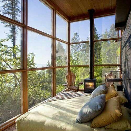 Treehouse tall windows