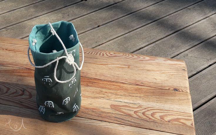 fabric bucket - kubełek z materiału, moja interpretacja , 雨