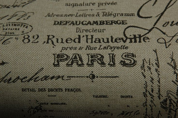 French Writing Upholstery Fabric 6 75 Yds Upholstery