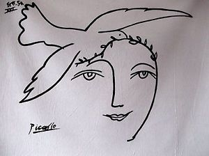 Picasso Dove Face Nude Oil Canvas Painting Abstract Pop Art ...