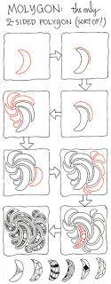 Zentangle: Molygons pattern