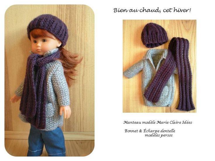 Tuto poupée Chérie Manteau Bonnet écharpe Bien au chaud, cet hiver! Plus