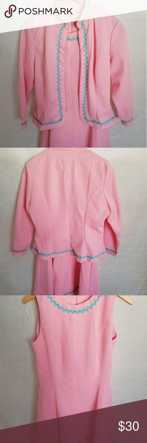 """Women's 1950s Junior Sixes Inc Dress & Jacket Gorgeous 1950s Junior Sixes Inc Pink Dress & Jacket in excellent condition. Measurements:  Bust 42""""/Waist 36""""/Hips 40""""/Length 35""""/Labeled size 15 Vintage Dresses Mini"""