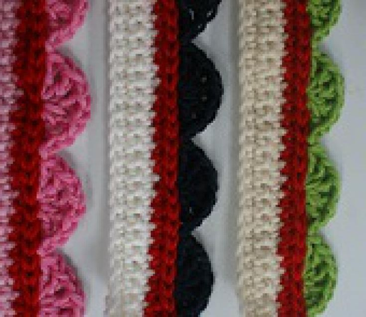 59 Free Crochet Patterns for Edgings, Trims, and Blanket Borders: Shell Stitch Edging - Holiday Version