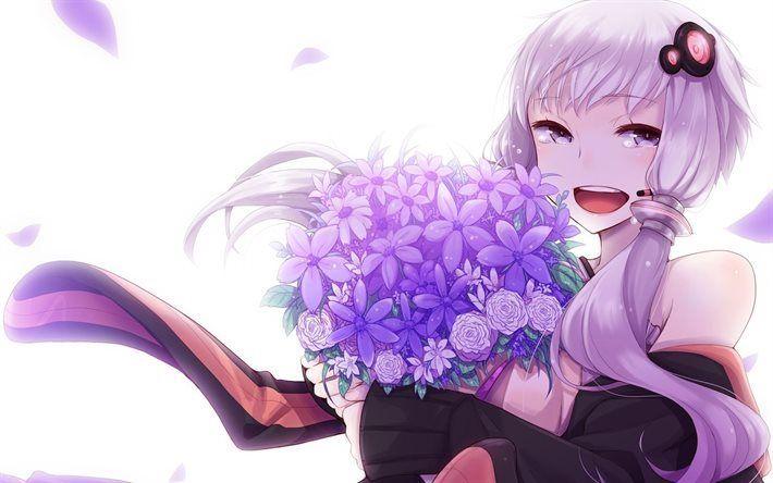 Herunterladen hintergrundbild vocaloid, manga, anime, mädchen, yuzuki bis