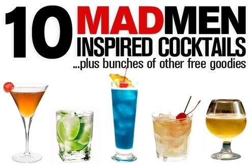 mad men party! drinks