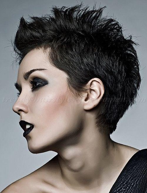 faux hawk short hair women - Google Search