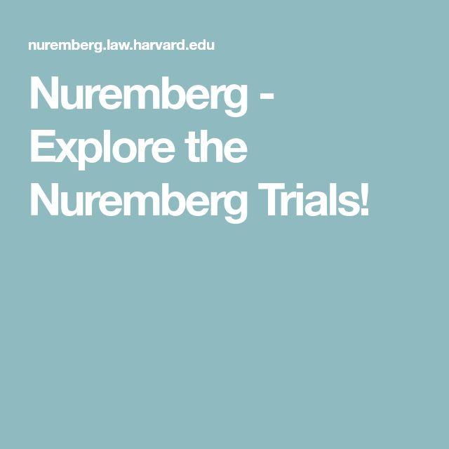 Nuremberg -  Explore the Nuremberg Trials!