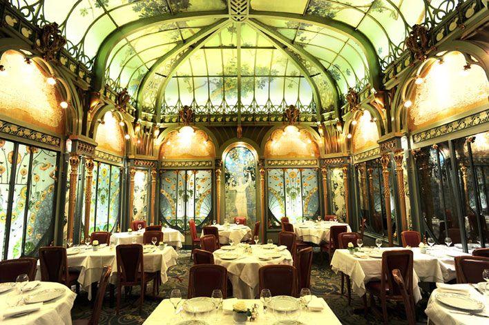 """Émile Hurtré, architect & Jules Wielhorski, painter. Restaurant """"La Fermette Marbeuf"""". 1896. 5, rue Marbeuf - 75008 Paris - France"""