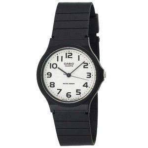 Casio Men's MQ24-7B2 Analog Black Resin Strap Watch