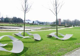 Michael Bihain: Ondin Benches, Outdoor Furniture, Deco Design, For Outdoor, Décorat Outdoor, Architecture Office, Design Brussels, Design Lovers, Public Benches