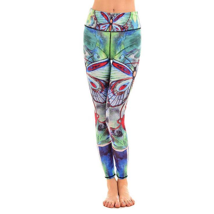 Nuovo 025 Sexy Girl HI-Q Polipo tentacoli mostro Stampato Elastico Slim Fit Fitness Workout Ghette Delle Donne Dei Pantaloni Più Il Formato