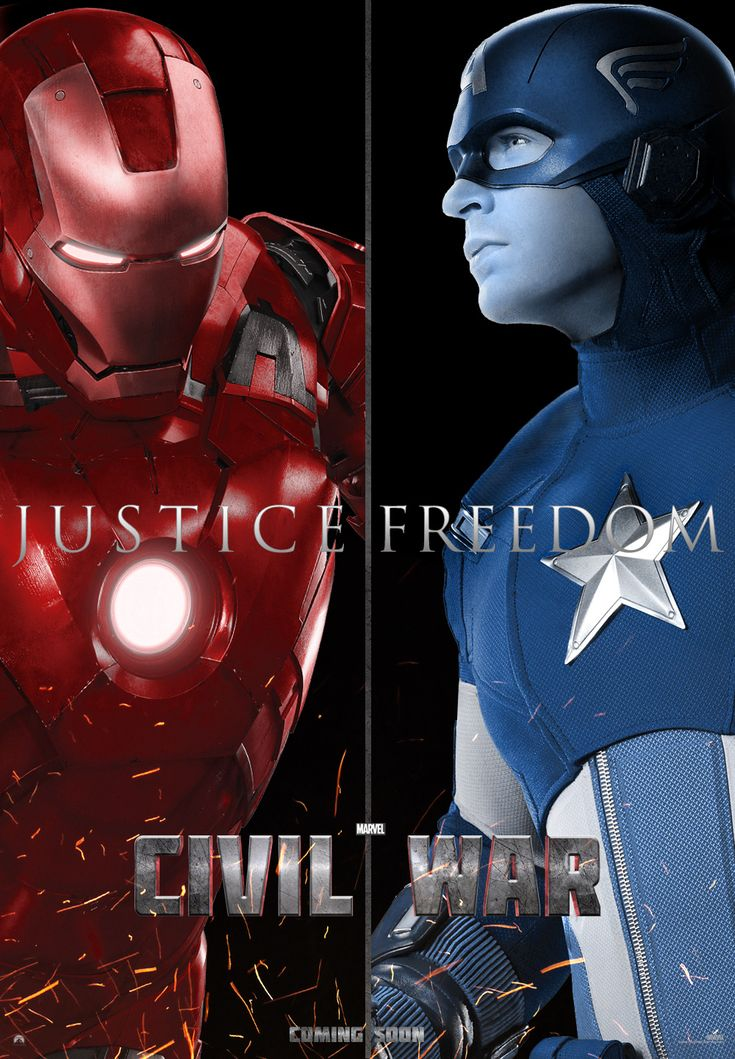 Marvel's Civil War Poster by Enoch16 which side are you on.
