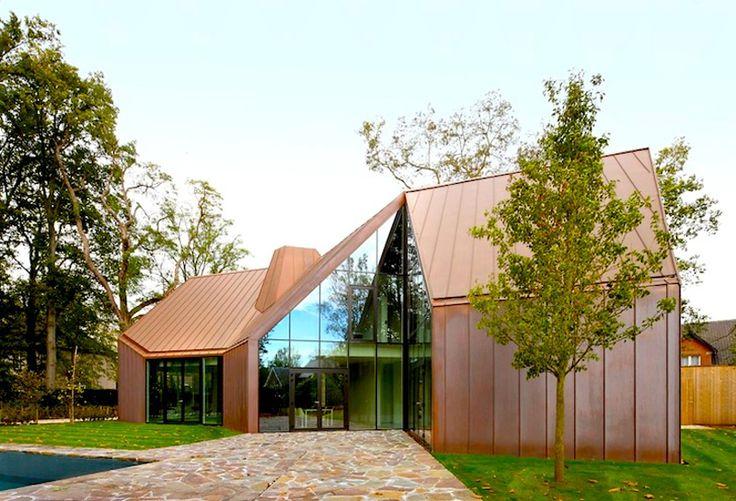 House VDV- Modern Copper-clad House, Belgium   http://www.designrulz.com/design/2014/04/house-vdv-modern-copper-clad-house-belgium/