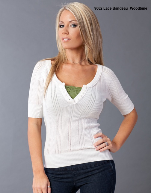 Coobie Lace Bandeau! Wear it under your V-Neck shirts for a lovely look! Available at Edwin's in Franklin, MA