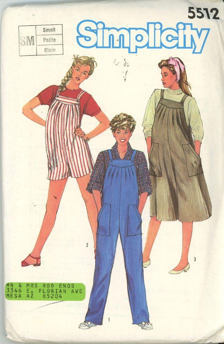 9 best jumpsuit maternity images on pinterest jumpsuits vintage simplicity 5512 1982 maternity overalls jumper dress size 10 12 uncut ombrellifo Image collections