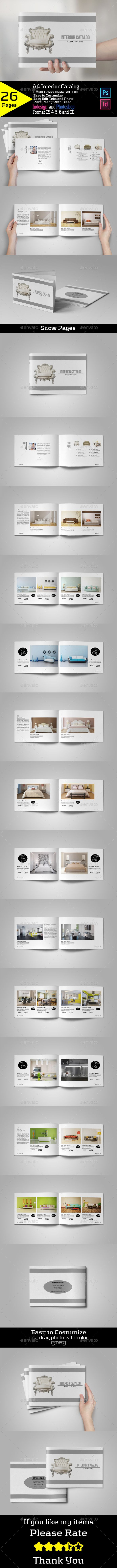 A4 Interior Catalog Brochure 26 Pages Template PSD, InDesign INDD #design Download: http://graphicriver.net/item/a4-interior-catalog/13164376?ref=ksioks