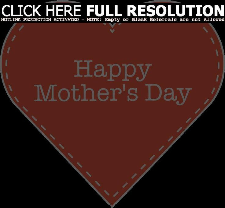 Happy Mothers Day Wishes Images with Red heart symbol of love