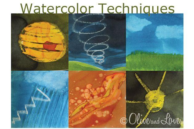 watercolor: Watercolor Techniques, Watercolor Ideas, Watercolor Resist, Videos Watercolor, 20120307 Watercolor, Square, Top